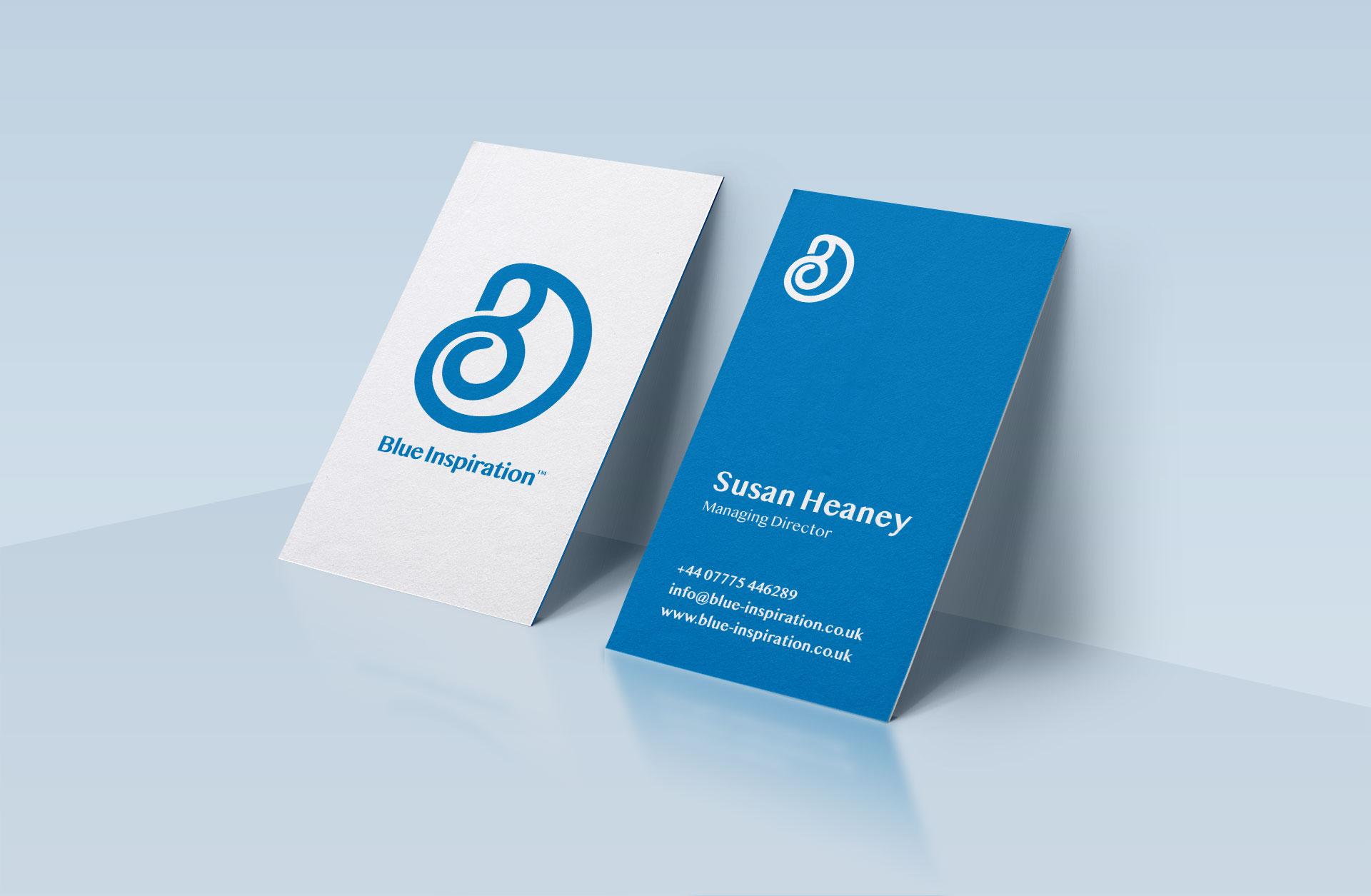 Blue Inspiration - Science Logo Design on Business Card