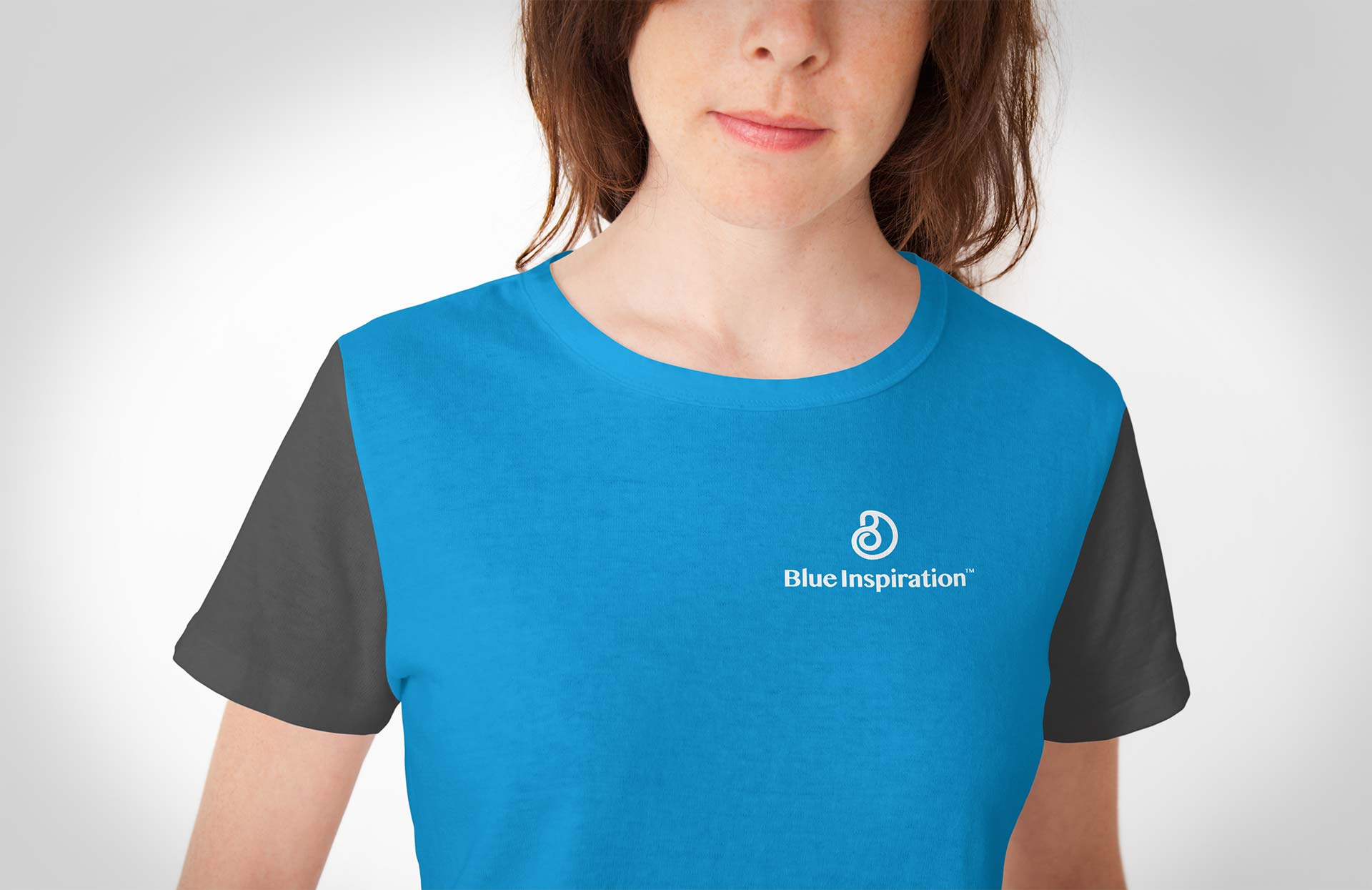 Blue Inspiration Logo on T-shirt