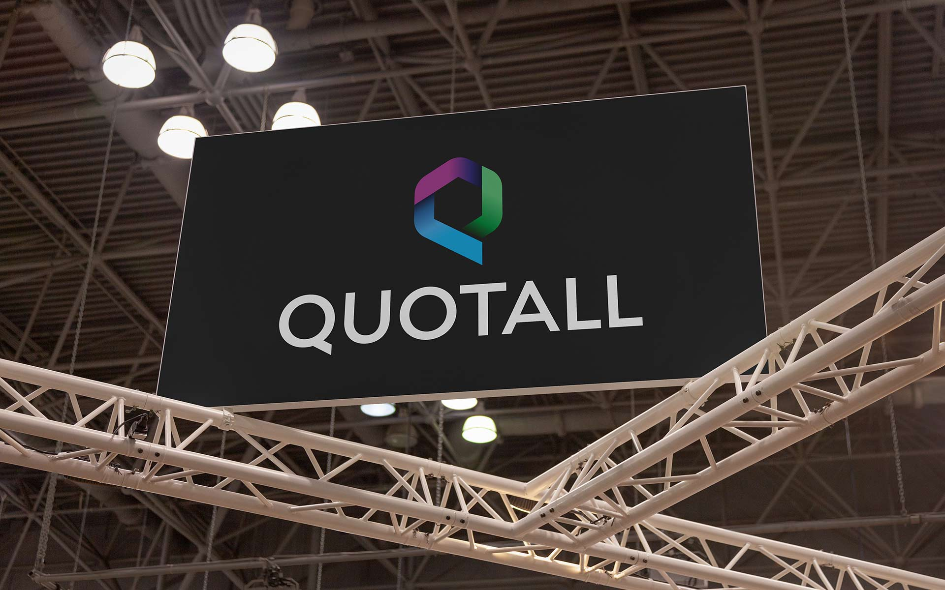 Quotall Insurance Logo Redesign on Graphic Panel