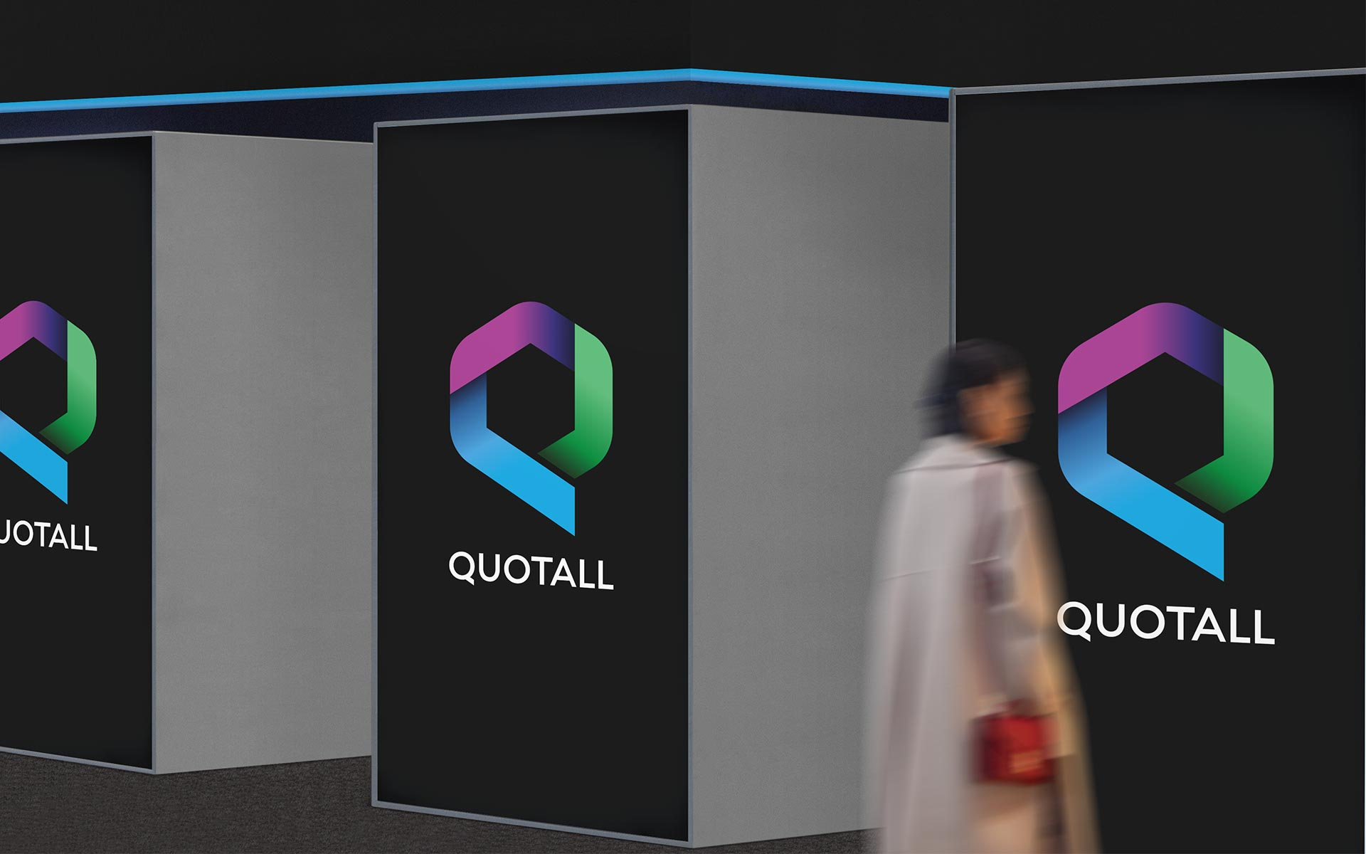 Quotall Insurance Logo Presented on Exhibition Panels