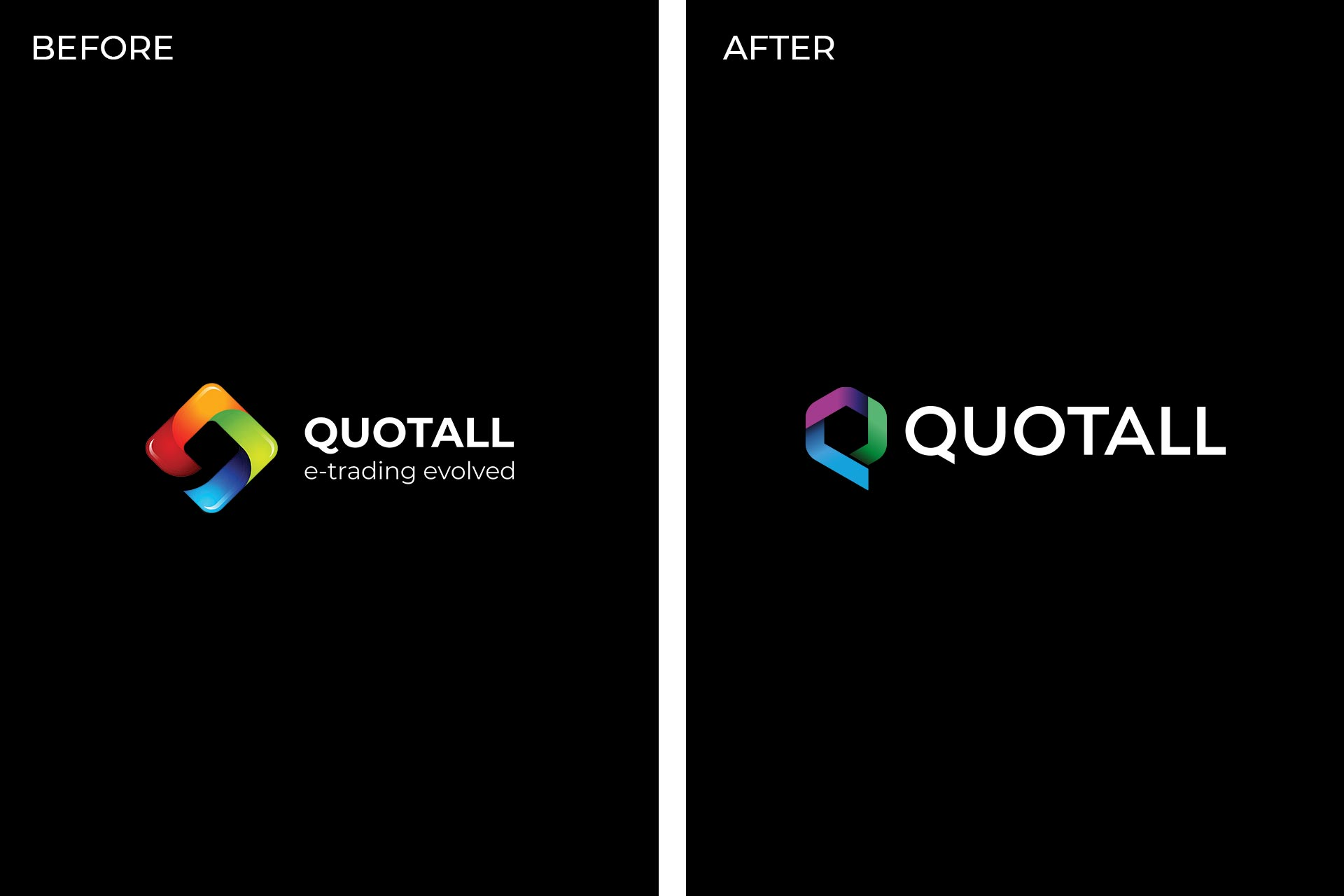 Quotall Logo Before and After