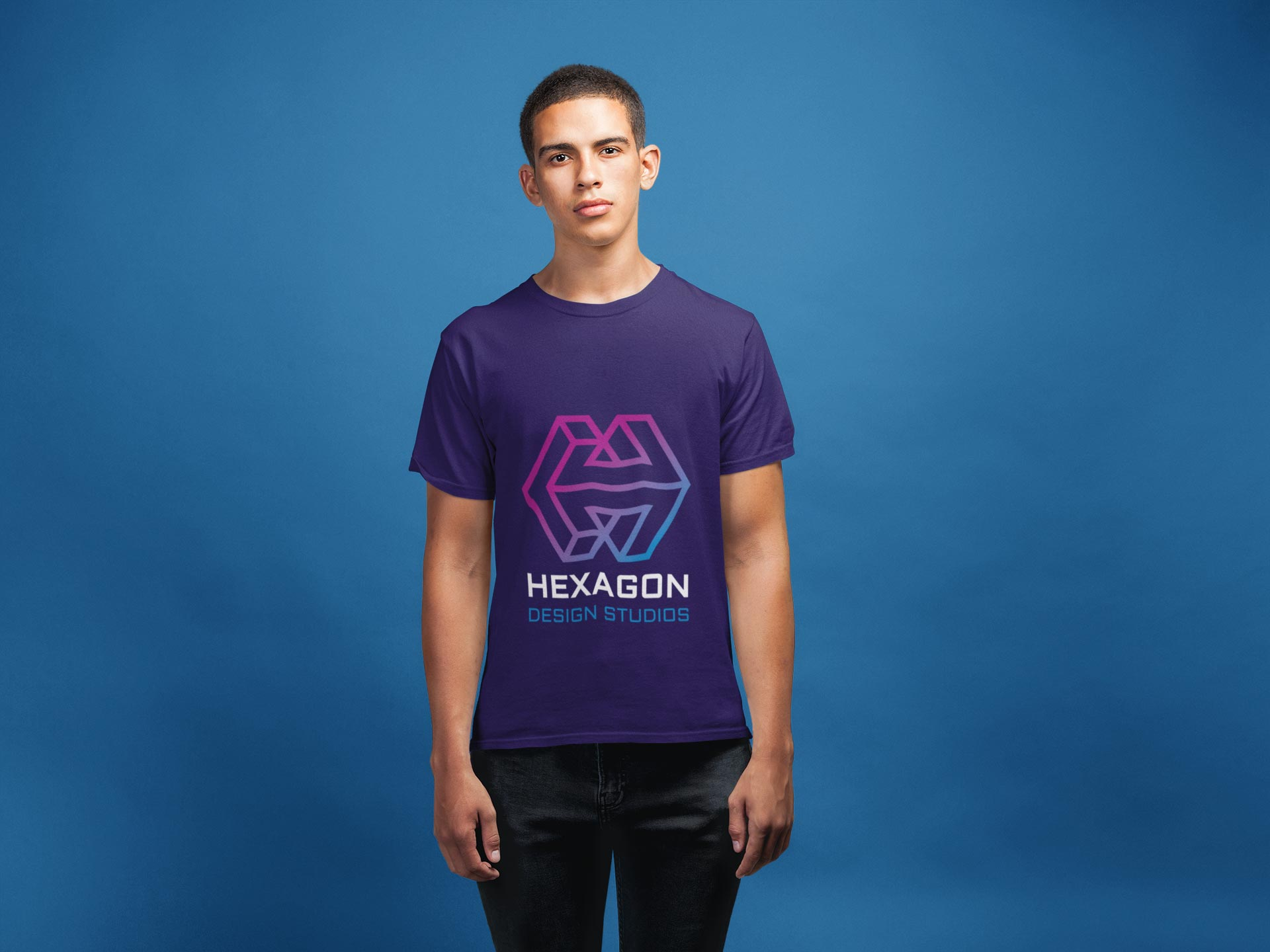 Hexagon Design Studios Logo Design on Tshirt
