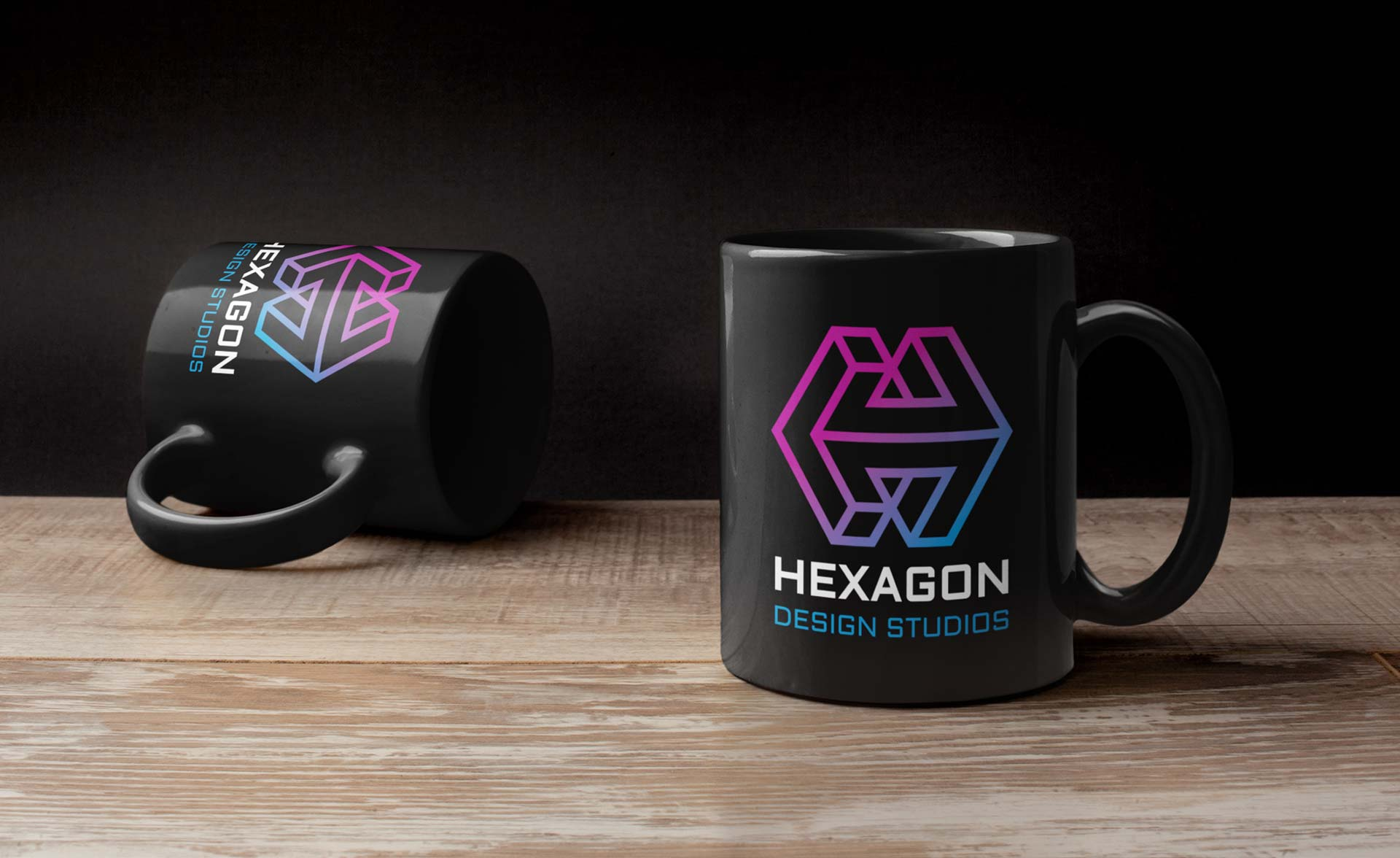 Hexagon Design Studios New Logo on Mug