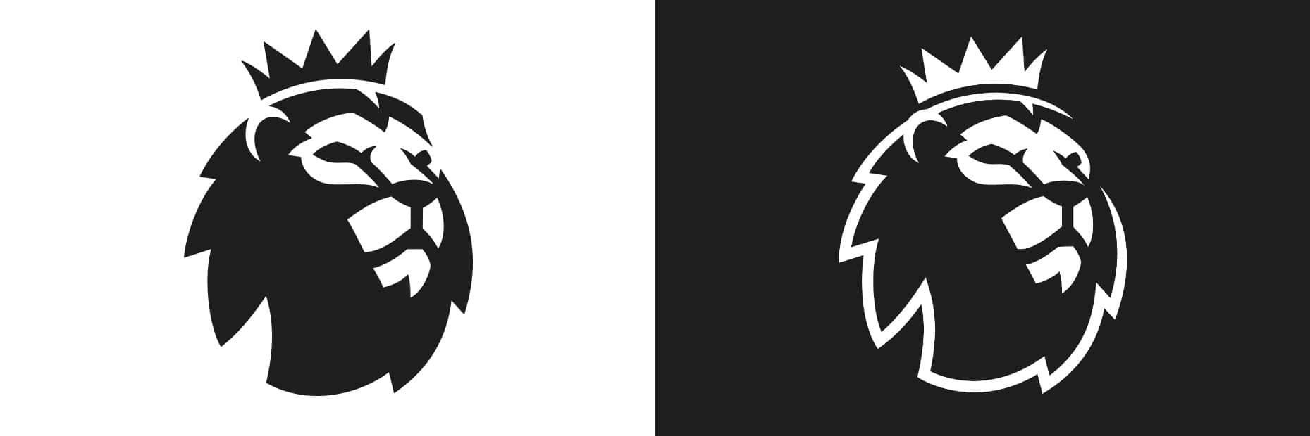 Premier League Logo Black and White variants
