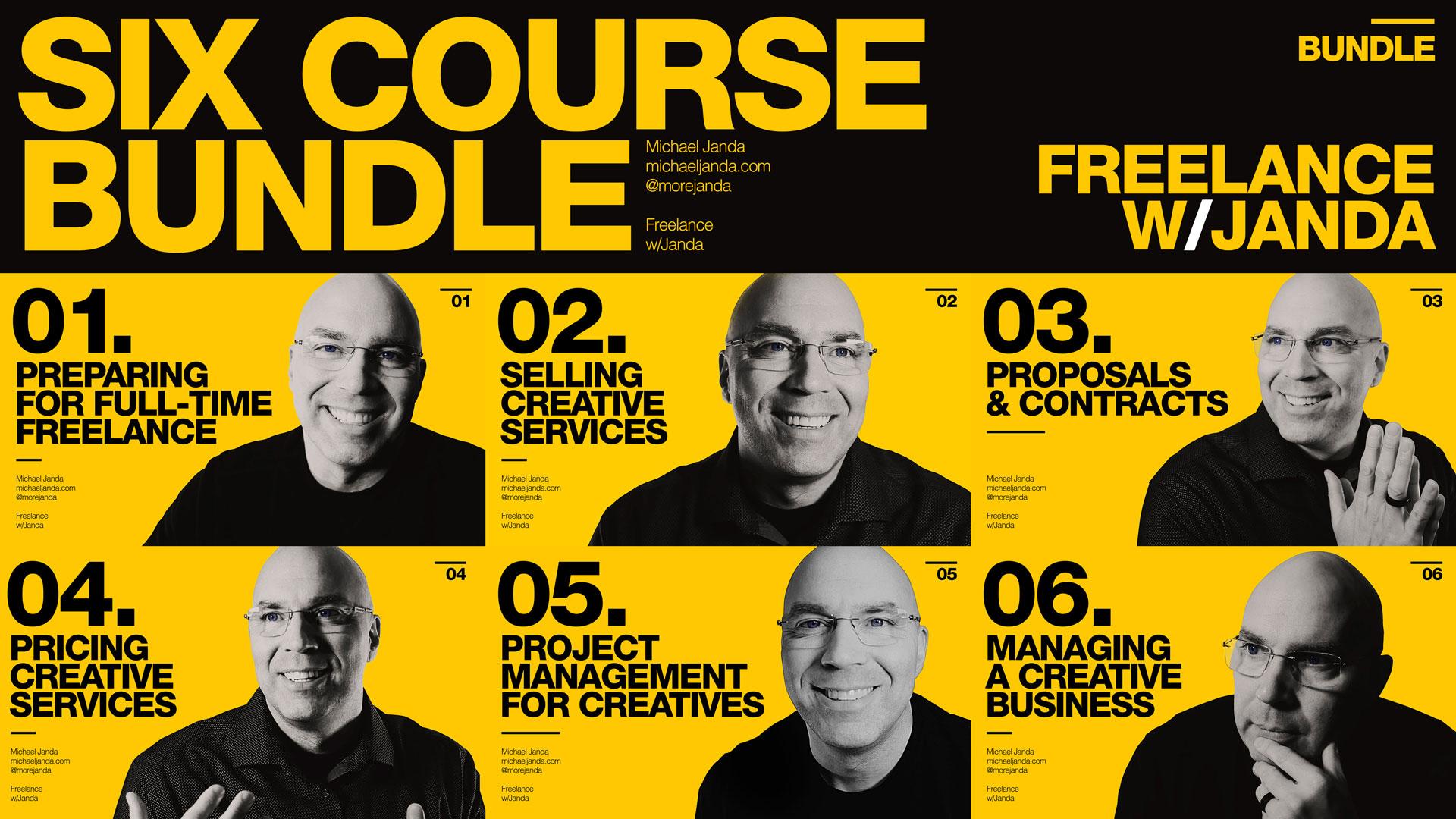 Freelance with Janda Six Course Bundle