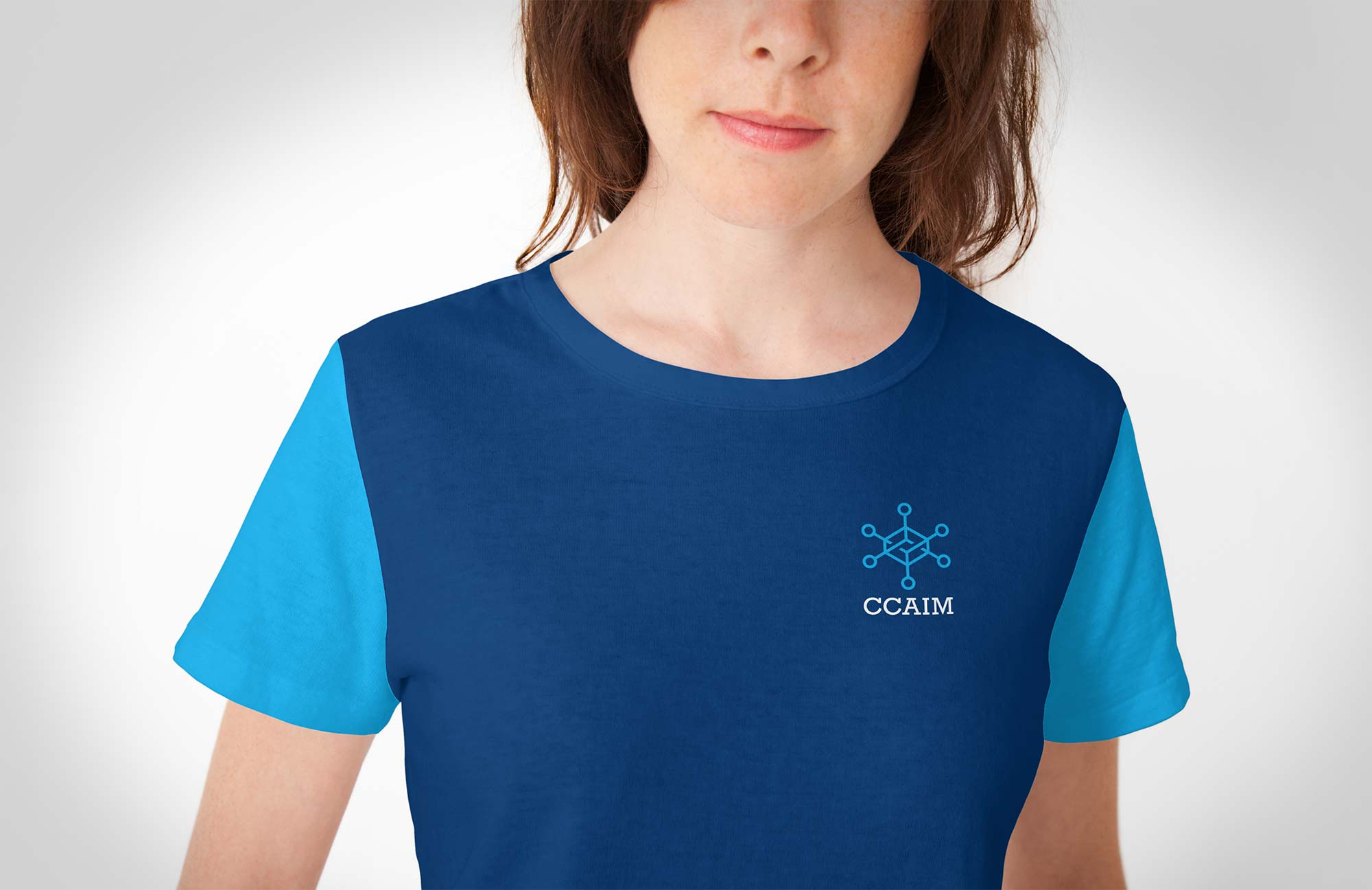 CCAIM Logo Design used on a T-shirt