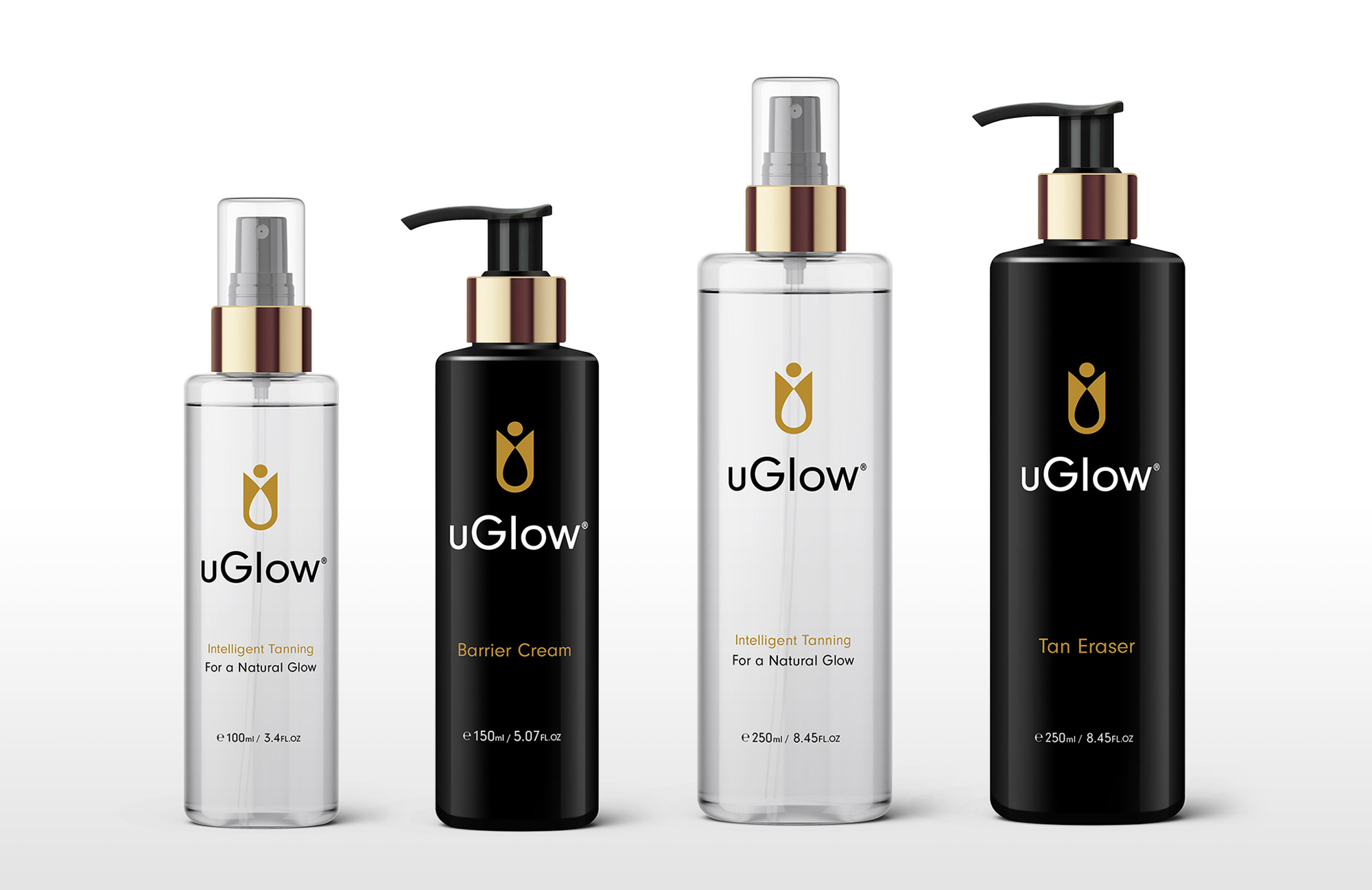 uGlow Logo & Packaging Design by Ian Paget