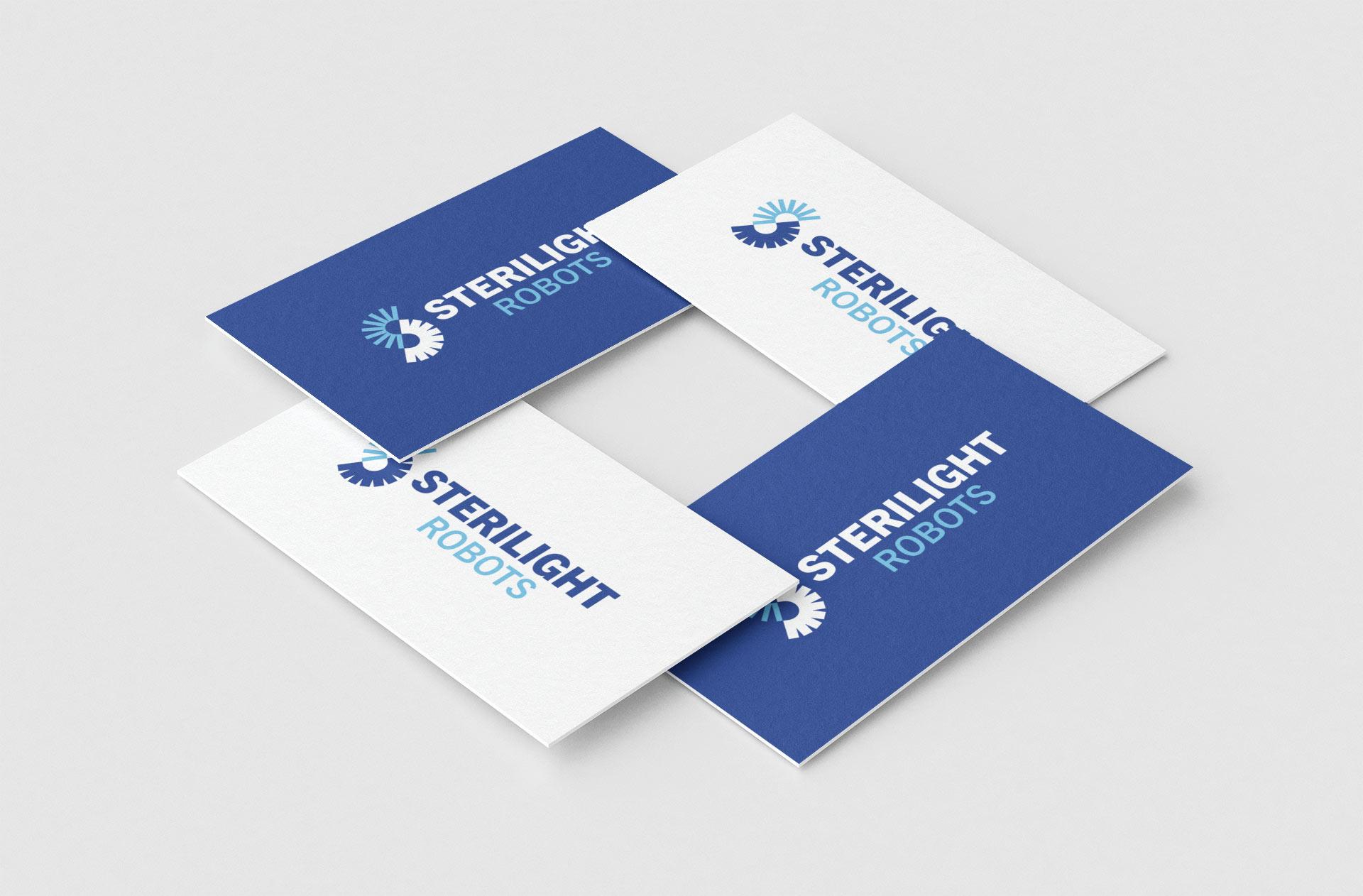 Sterilight Logo Presented on Business Cards