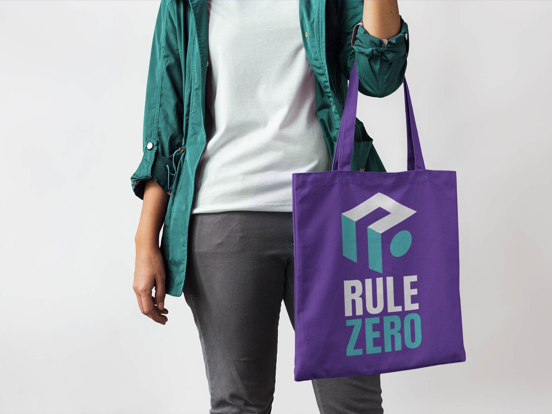 Rule Zero Logo Design on Bag