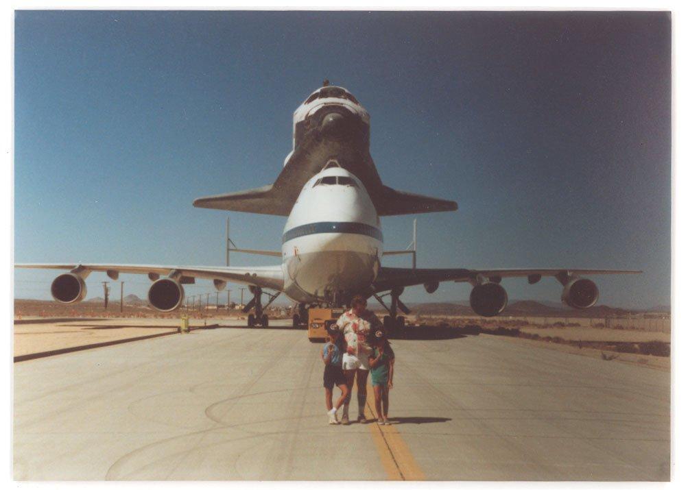 Chris Logsdon with his Dad at NASA