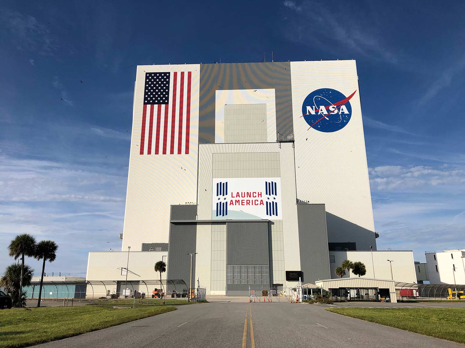 Launch America Logo on Building Exterior