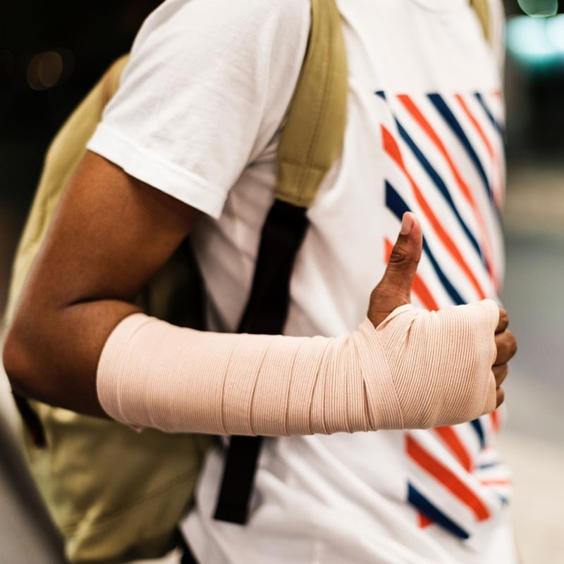 Medical Patient with Cast