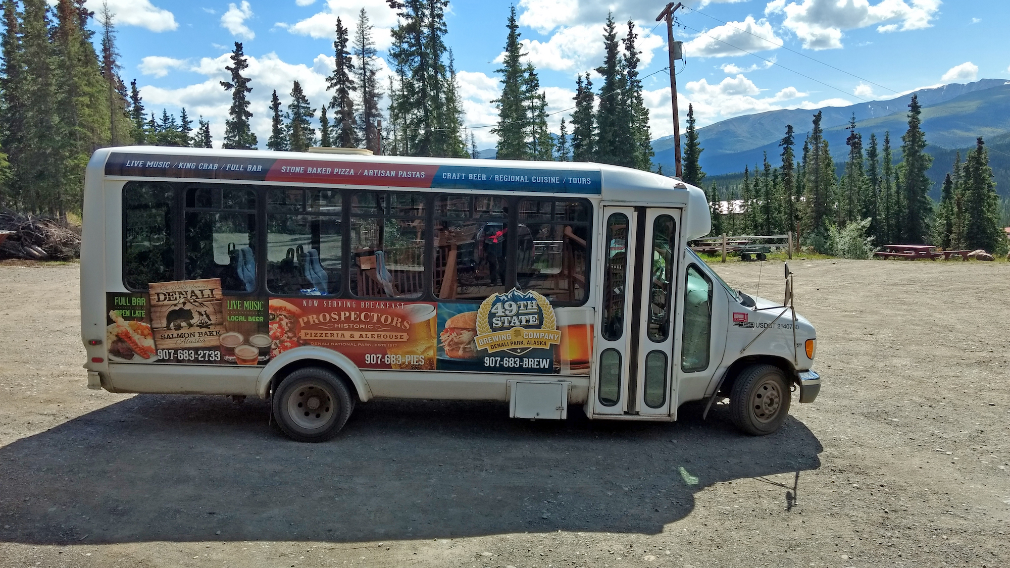 dine denali shuttle salmon bake prospectors northern hospitality group 49th state brewing
