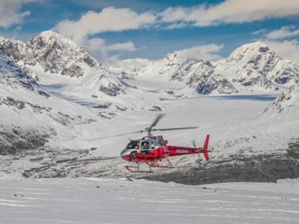helicopter flight seeing tour glaciers mountains denali national park