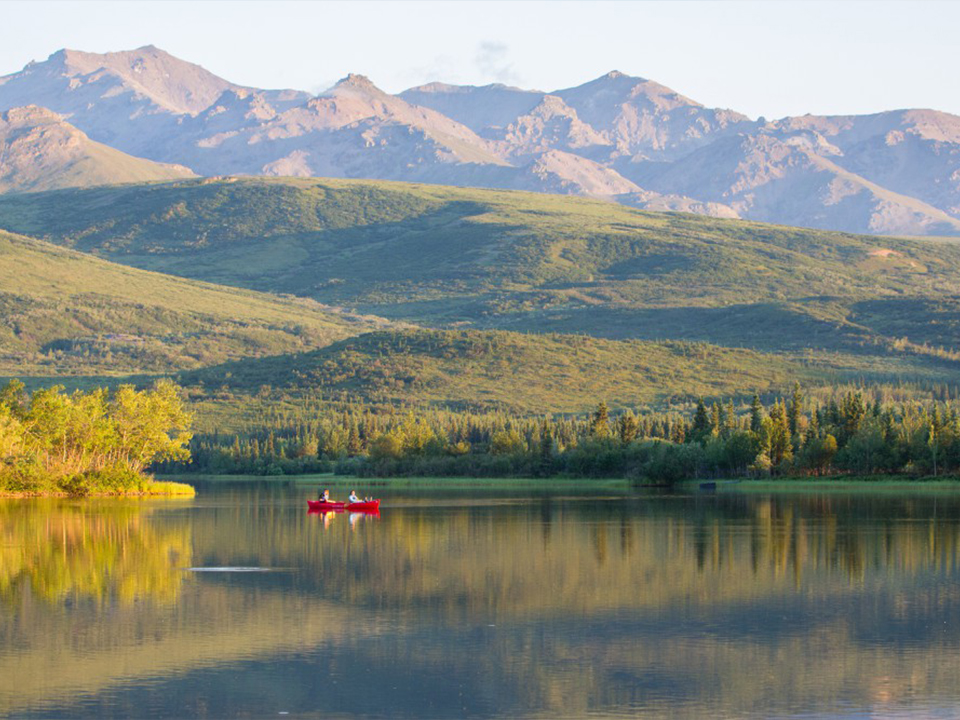 otto lake mt healy denali kayaking canoe alaska