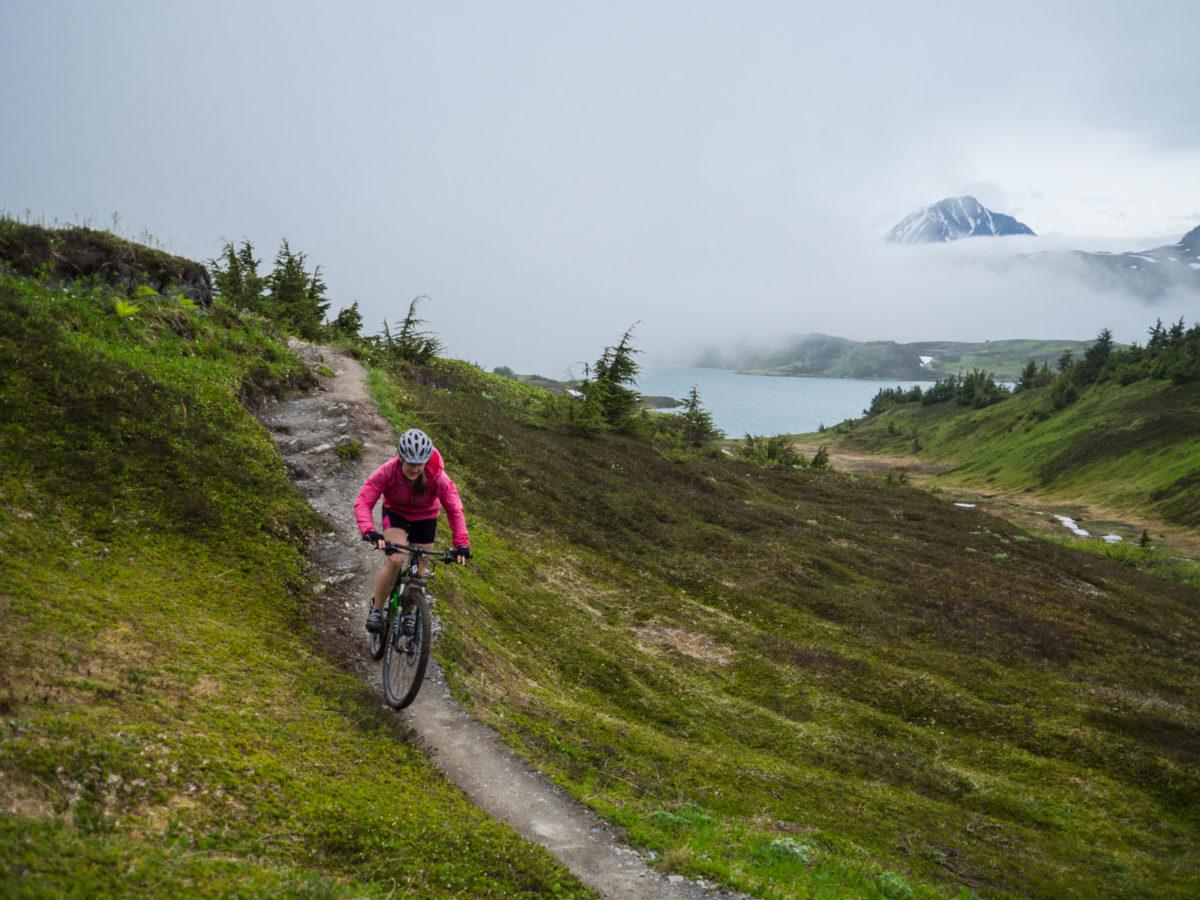 mountain biking alaska lake