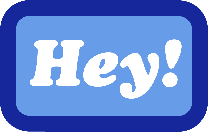 Hey! Sticker