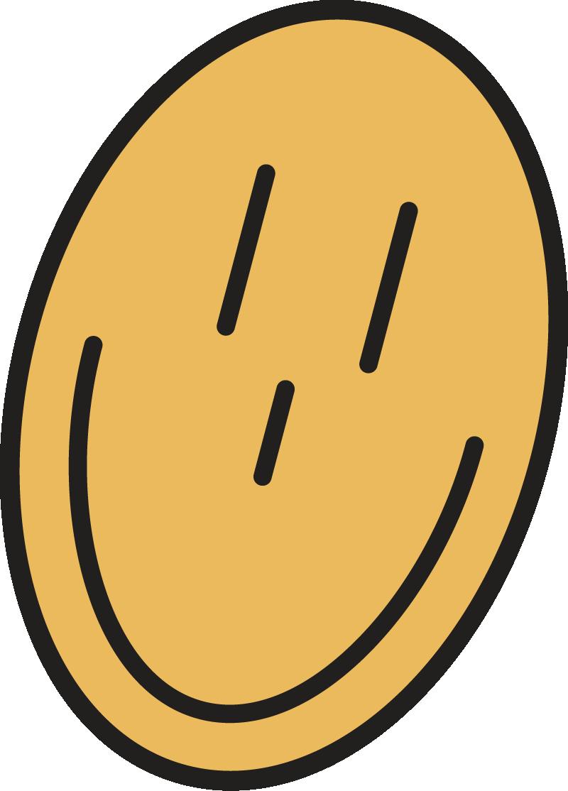 Smiley face sticker