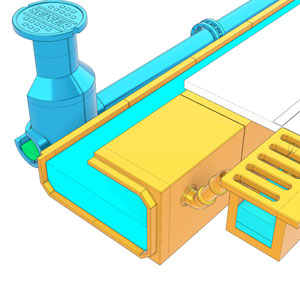 two drain system