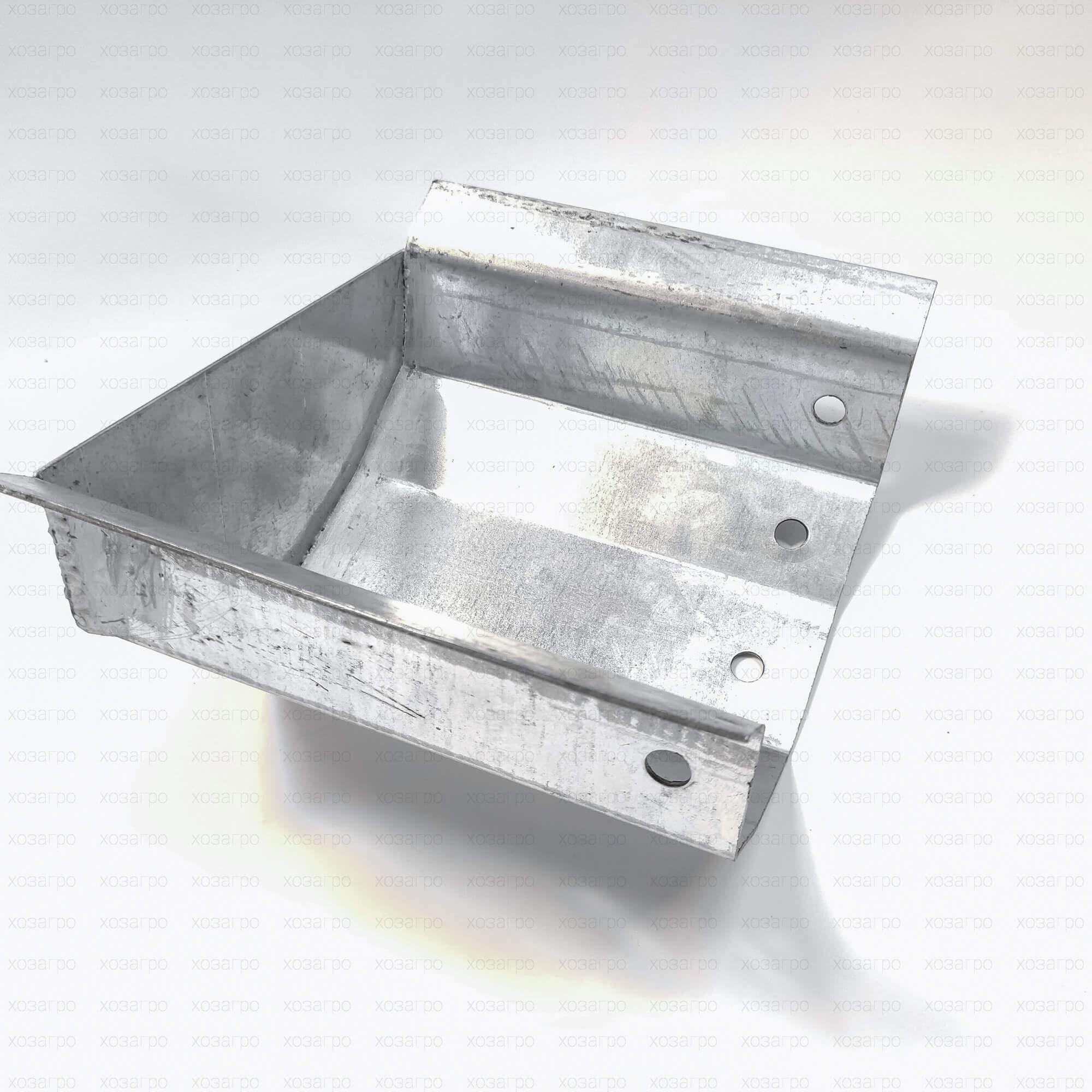 Заглушка желоба оцинкованная (длина 200mm)