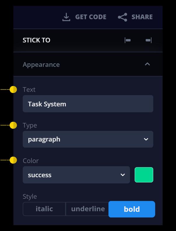Adjust parameters for your task management system in a low code development platform