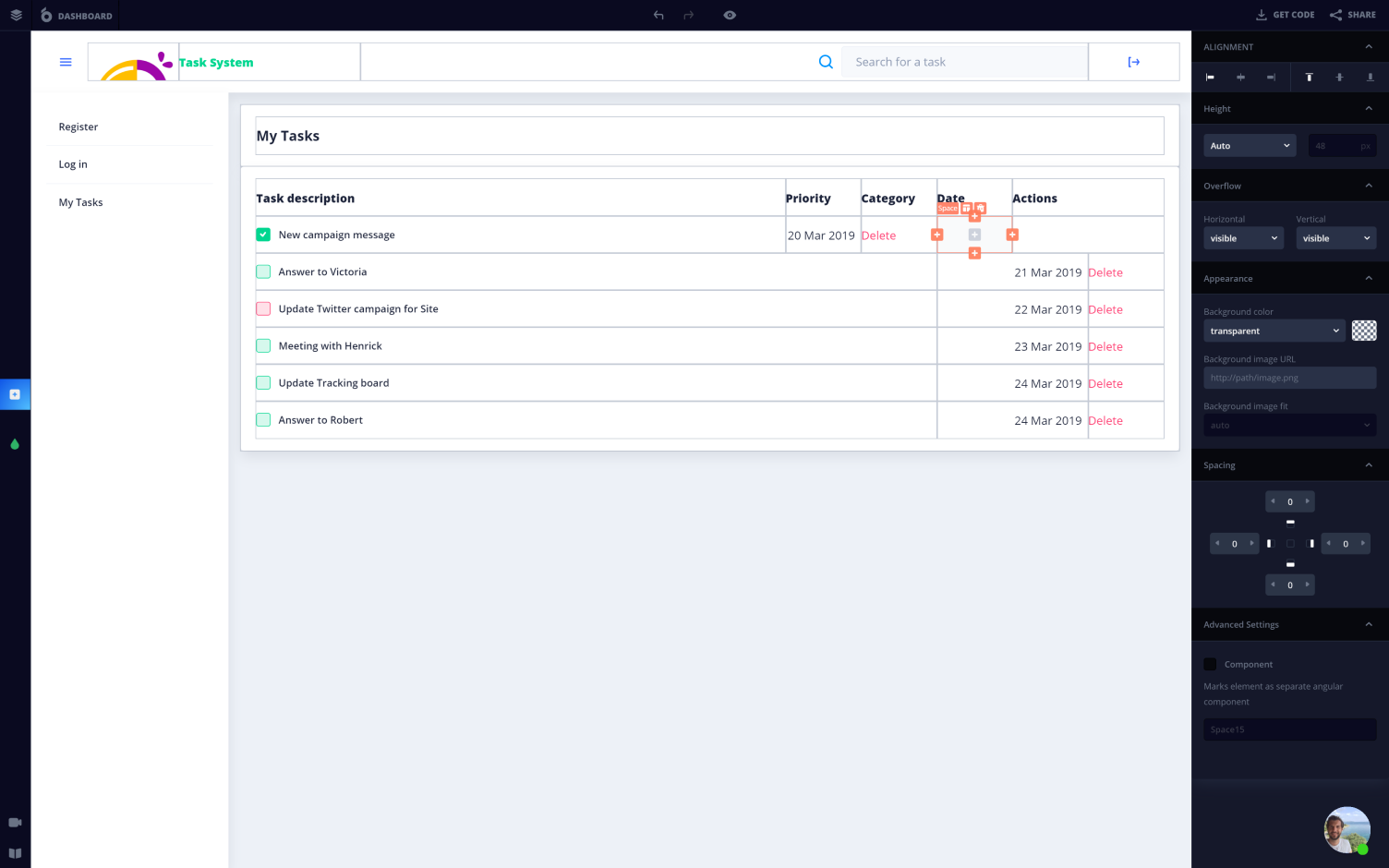 Building the best task management tool without coding and designing