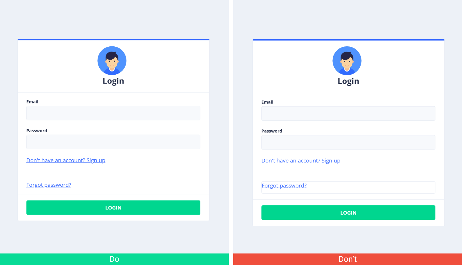 How to create a login page correctly using a low code development platform