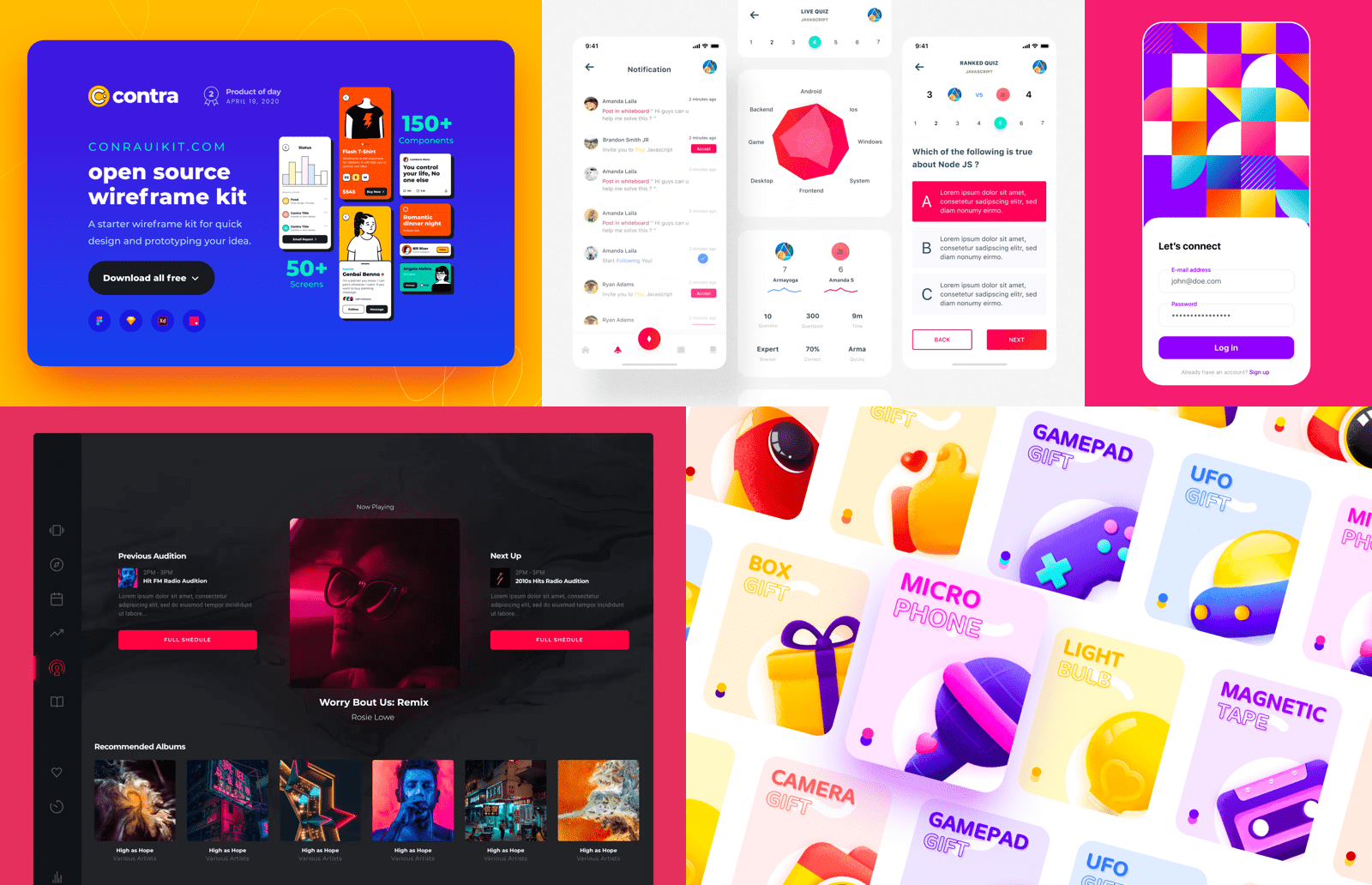 Bold colors as a trend in UX/UI design