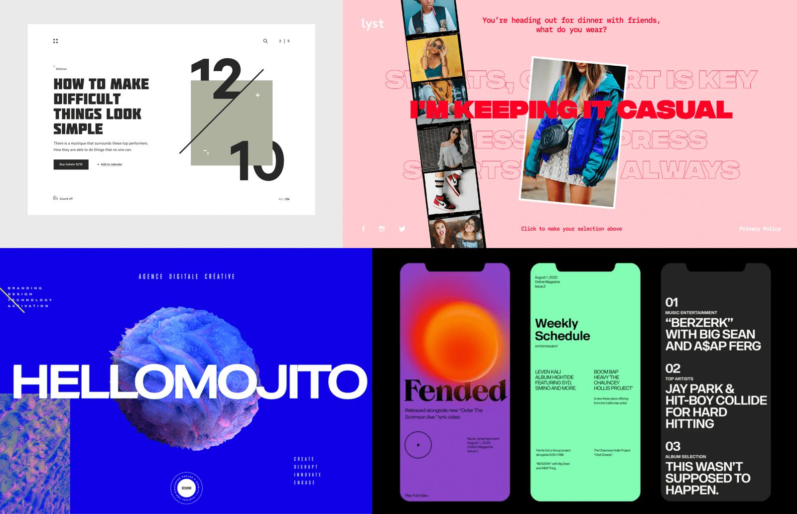 Custom fonts in UX/UI trends in 2020