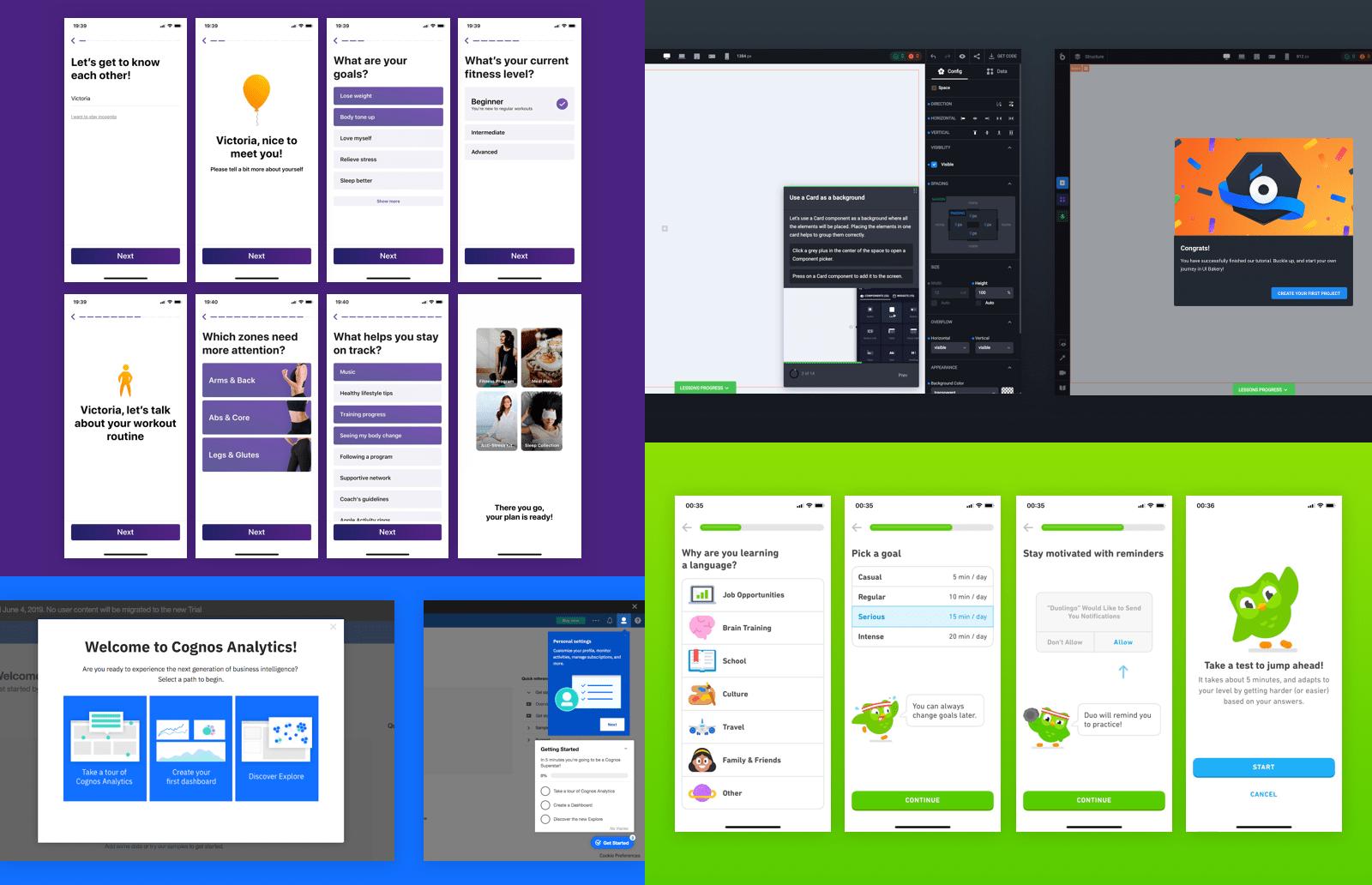 Onboarding tutorials among UX/UI design trends in 2020