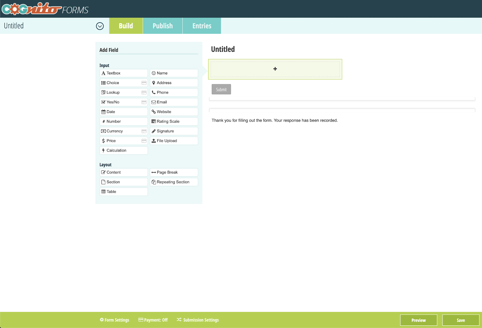 Cognito Forms online form builder