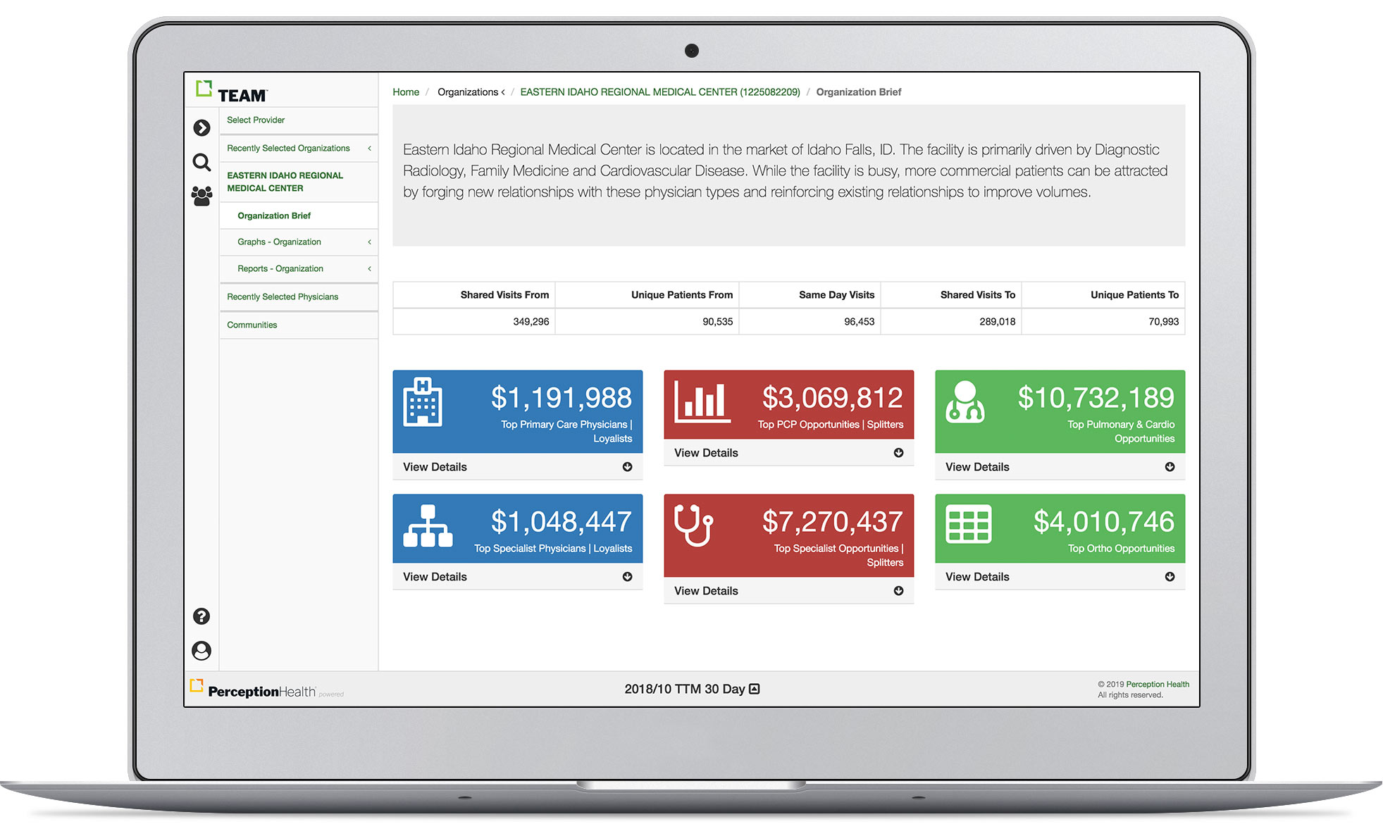 Team Platform Hospital Organization Report