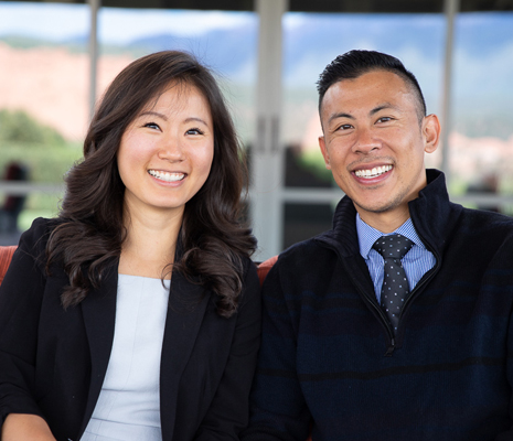photo of Dr. Grace Lee and Dr. Eli Wang of LVL Orthodontic