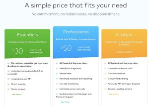 Aircall's pricing plan