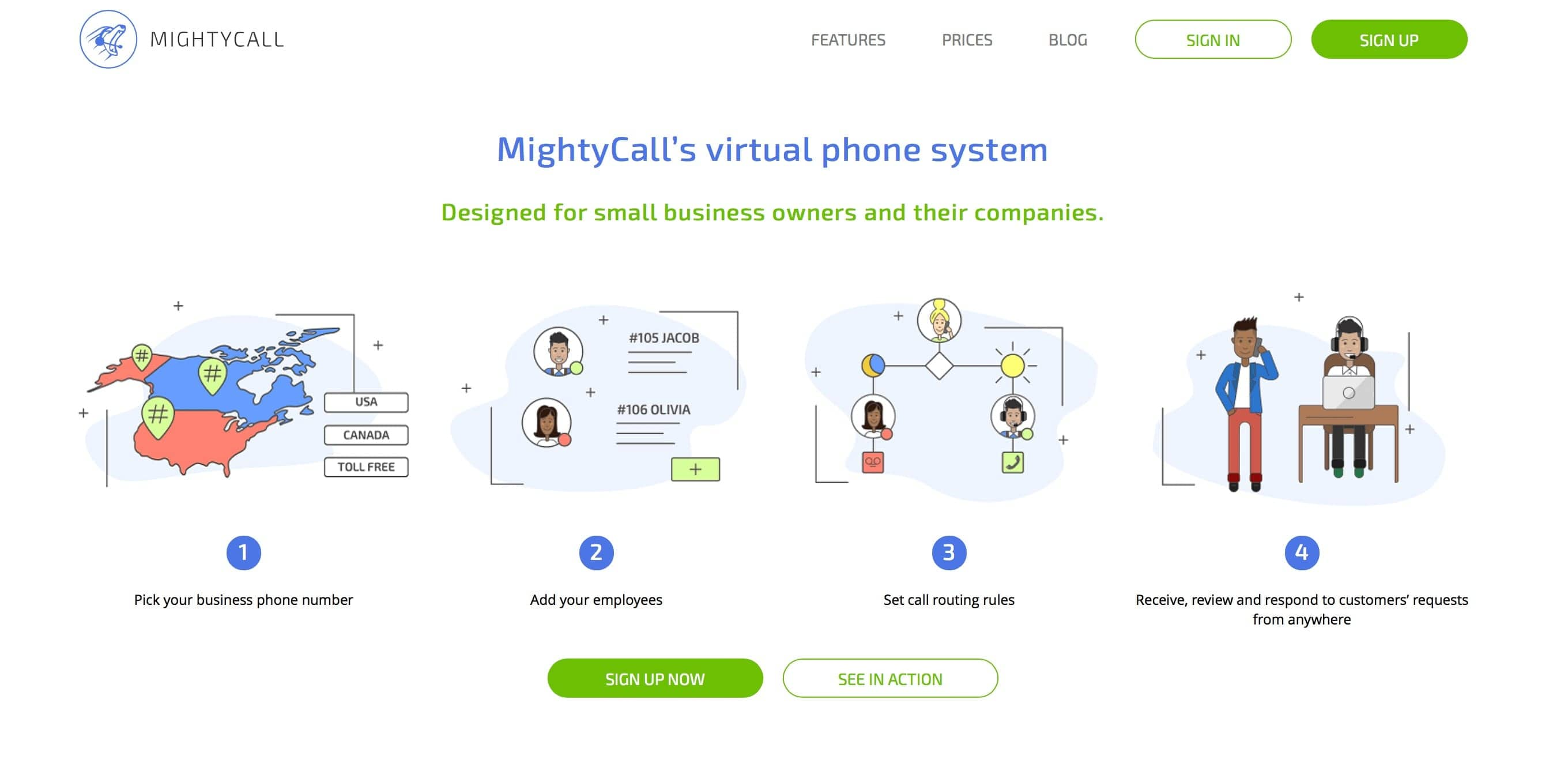 MightyCall's virtual phone system