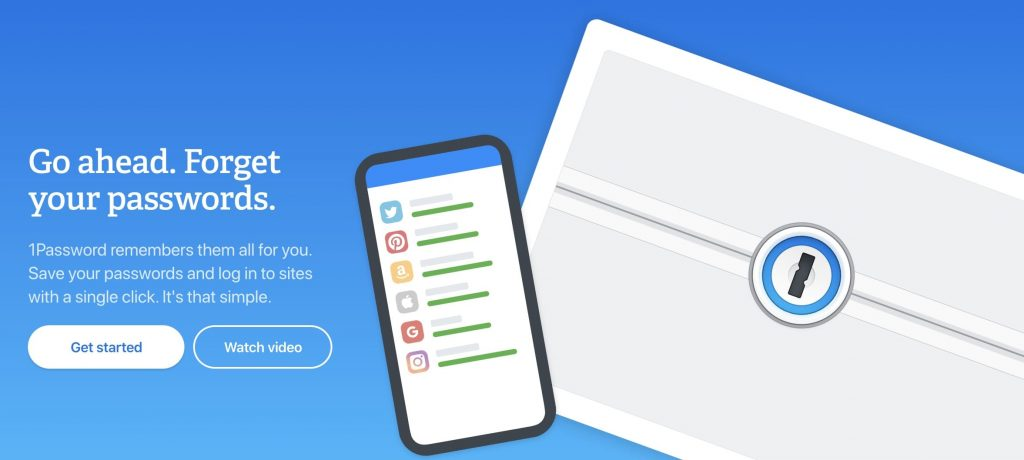 1Password provides security and peace of mind