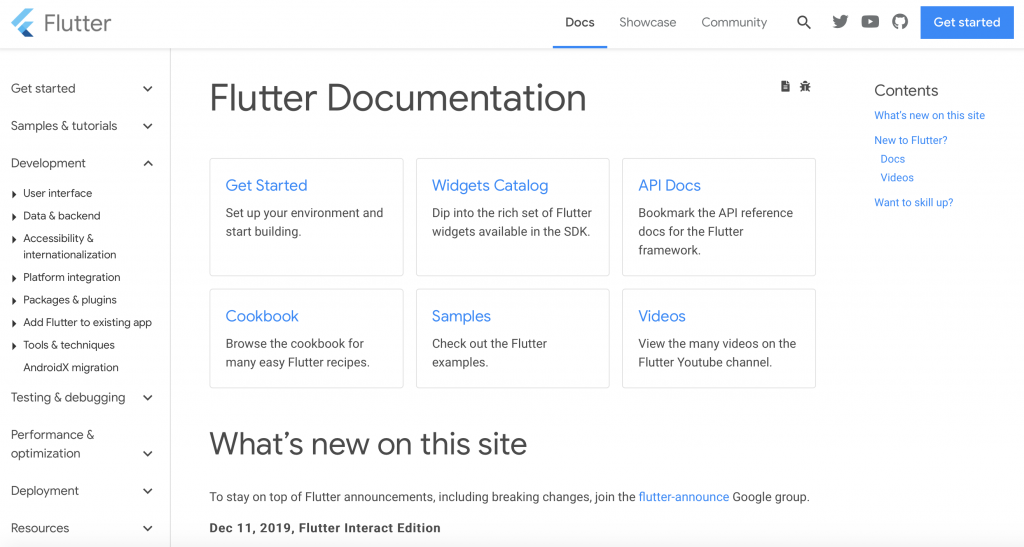 Flutter is very well documented to help you learn faster