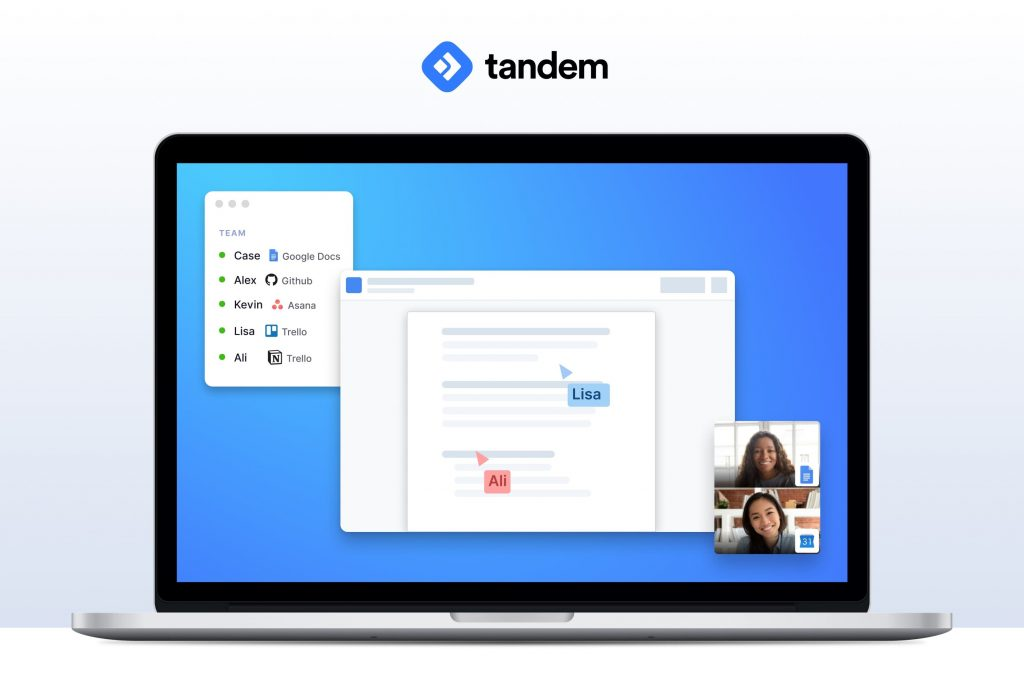 Tandem desktop app for remote teams