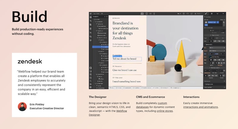 Webflow is a website builder that blows other solutions out of the water