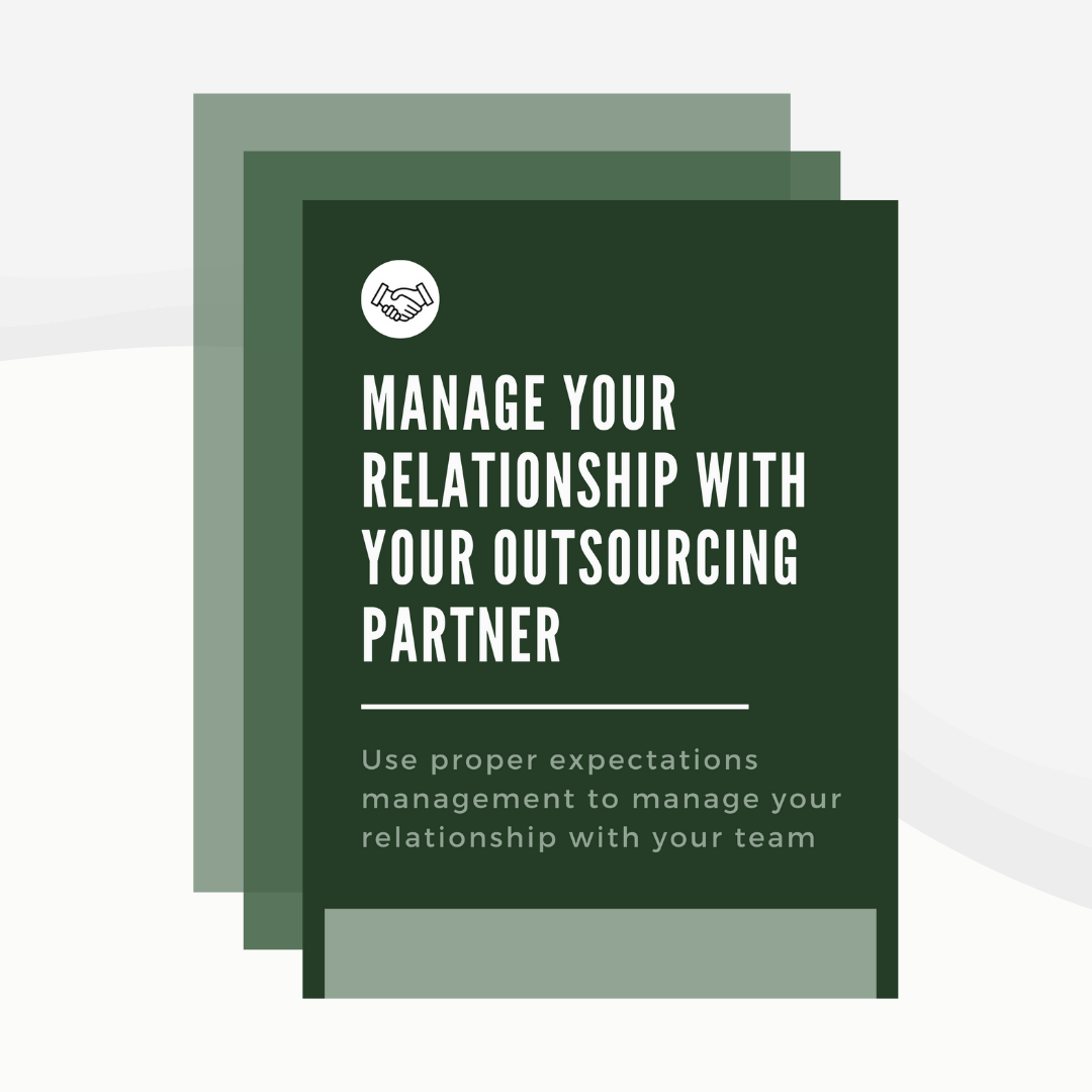 Manage Your Relationship with Your Outsourcing Partner