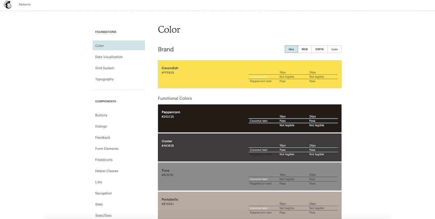 Mailchimp design system