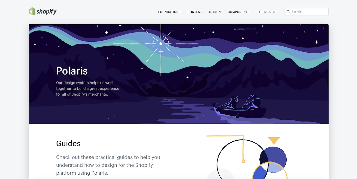 Shopify Polaris design system