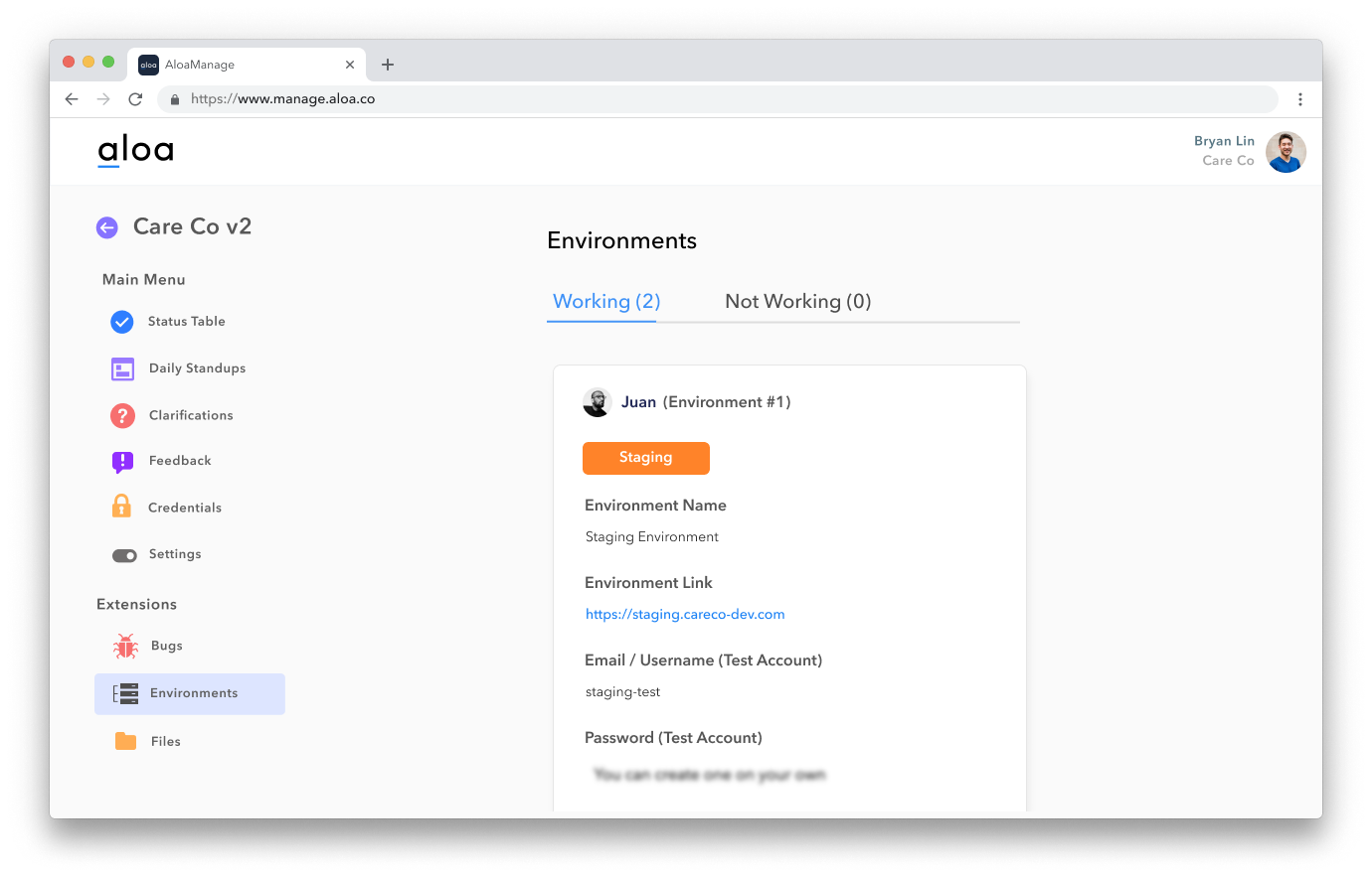 Keep track of all your environments and servers in one place.