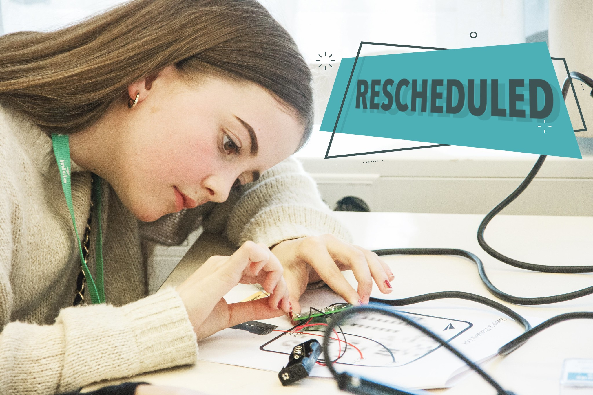 Girl soldering during GirlTechies workshop