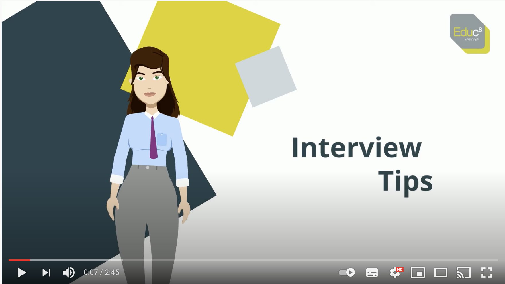 Interview Tips image link to Youtube Video