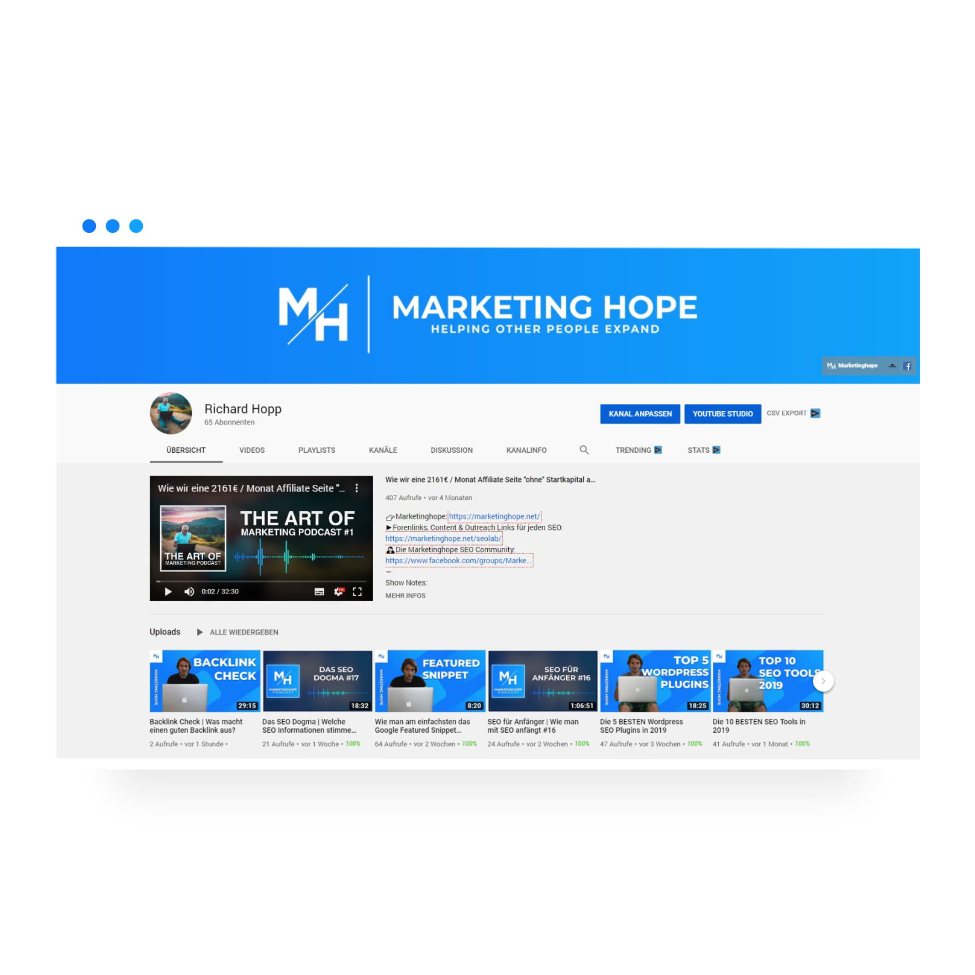 Marketinghope Youtube Kanal
