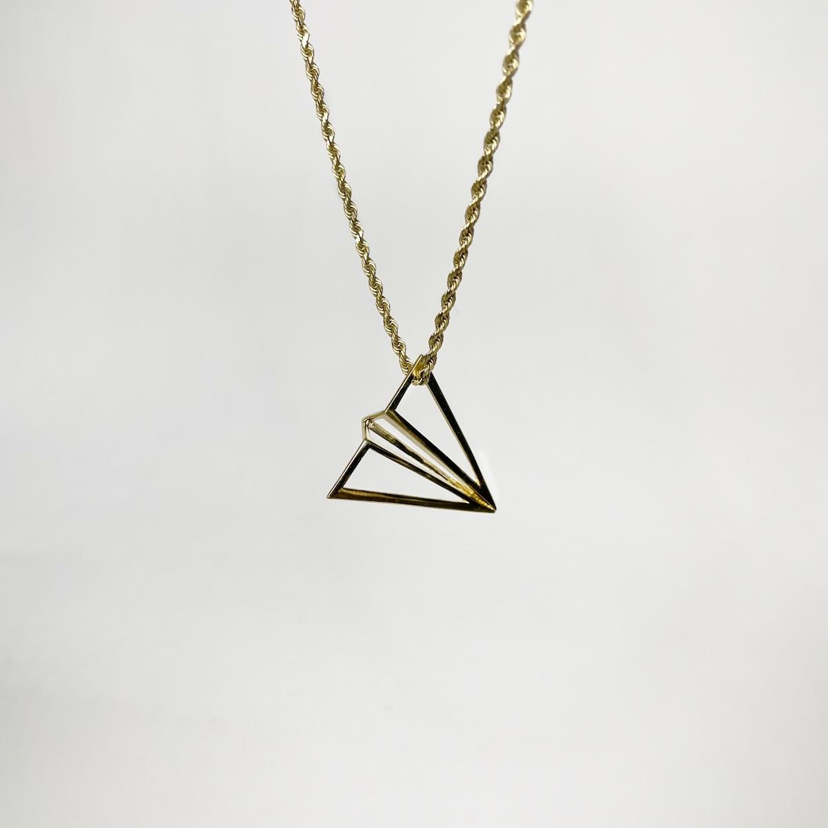gold #launchintention pendant