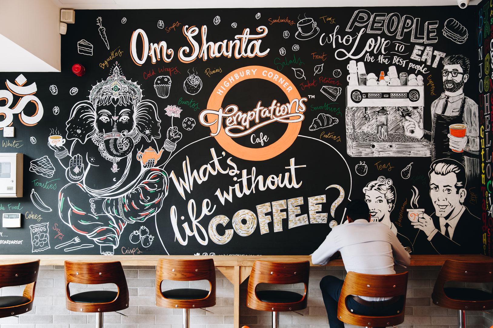 Blackboard art mural