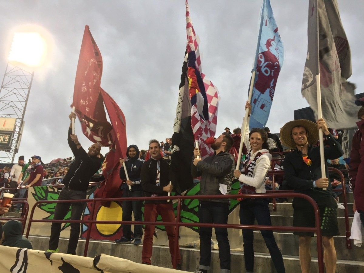 A few of us from Techstars went out to the opening match to watch the Colorado Rapids play!