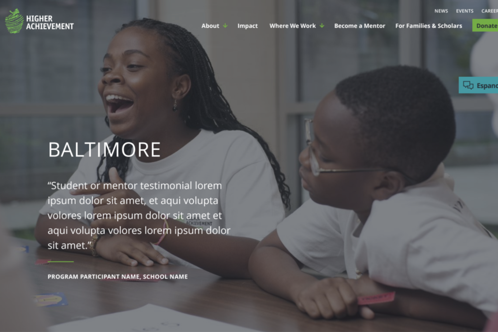 Baltimore homepage